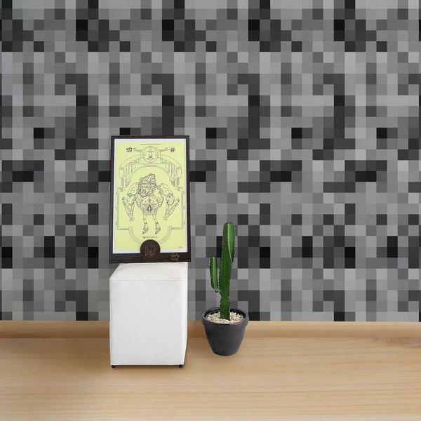 Papel de Parede Adesivo Pixel Concreto
