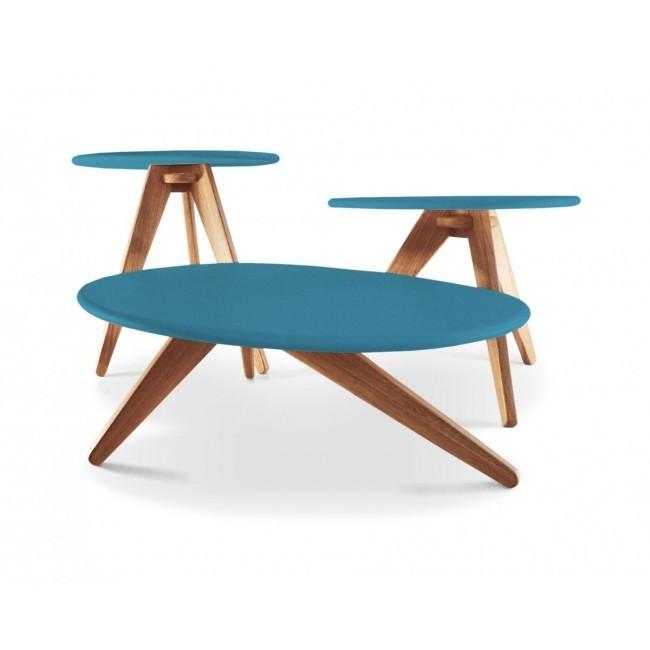 Conjunto de Mesas Pebble Azul
