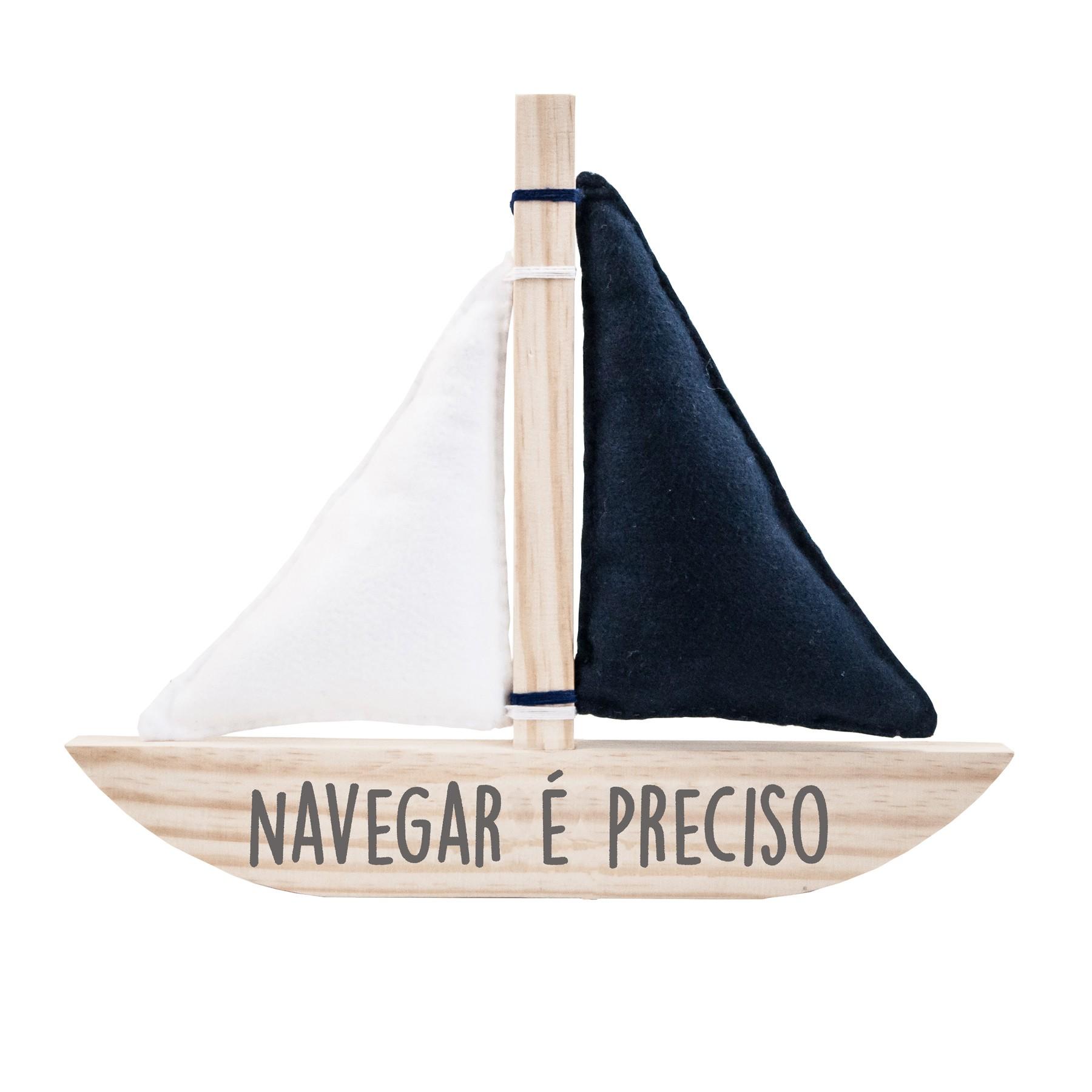 Plaquinha Barco - Navegar é Preciso