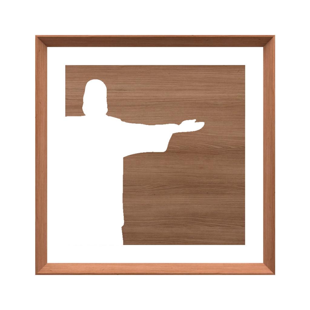 Quadro em Madeira Jequitibá Cristo Redentor - Coleção Rio