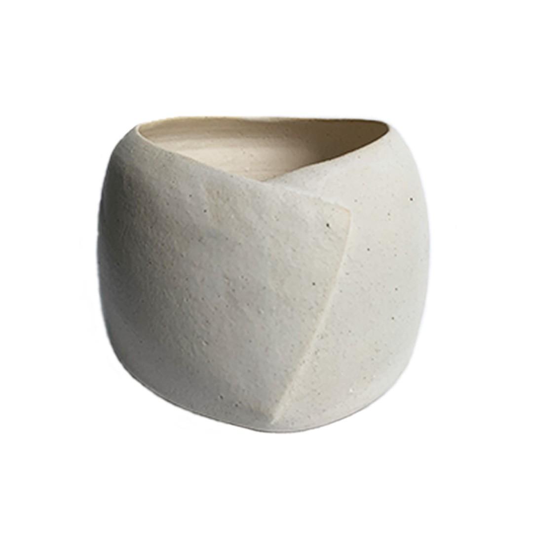 Vaso de Cerâmica Bojo Origami - ENTREGA IMEDIATA