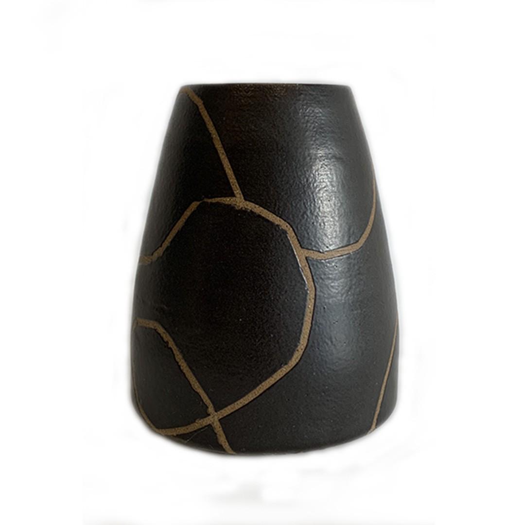 Vaso de Cerâmica Cone Médio - ENTREGA IMEDIATA