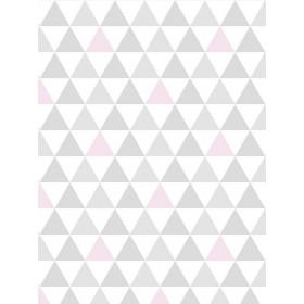 Papel de Parede Adesivo Triangulinho Rosa