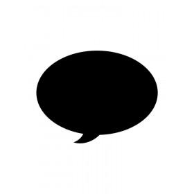 Adesivo de Parede Lousa Diálogo 1