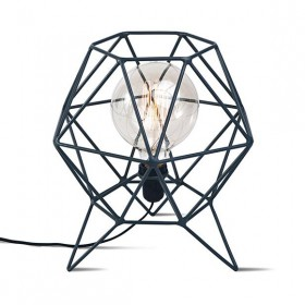 Abajur em Aço Hexagonal Coruja