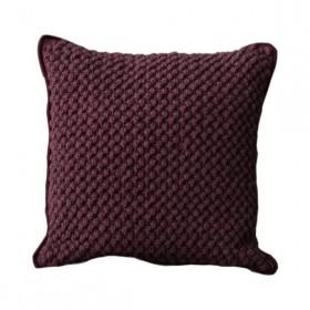 Almofada em Crochê Artesanal Quadrada Pipoca
