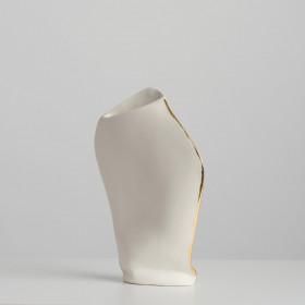 Vaso em Porcelana Médio - Série Formas Gold