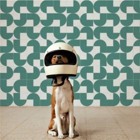 Azulejo Quadrado Modelo Helmet (m²) - Estúdio Mosaico