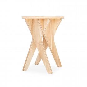Banquinho em Pinus e Paricá Petit Ballet Natural