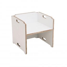 Cadeira Cubo Multifuncional em Madeira Lótus