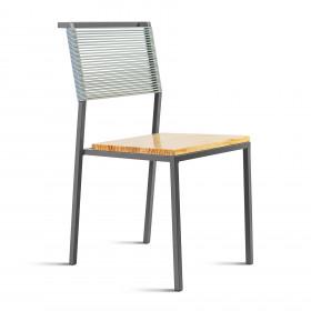 Cadeira em Aço e Fios de PVC Benteví Espaguete