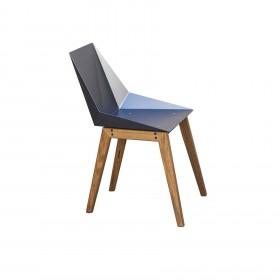 Cadeira em Aço e Madeira Kepler Mk2