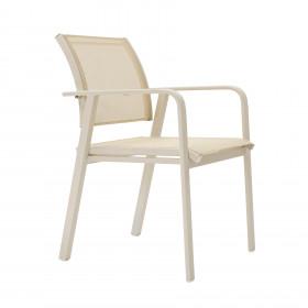 Cadeira em Alumínio Tubular e Tela Sling Santorini
