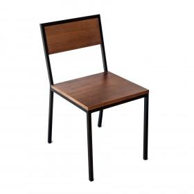 Cadeira em Aço e Madeira Hertz
