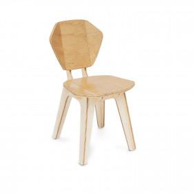 Cadeira Pétala Wood Wafer Caramelo