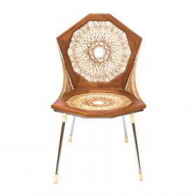 Cadeira em Madeira e Fibra Natural String