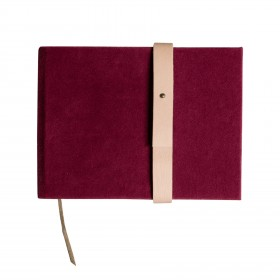 Caderno Veludo G Paisagem