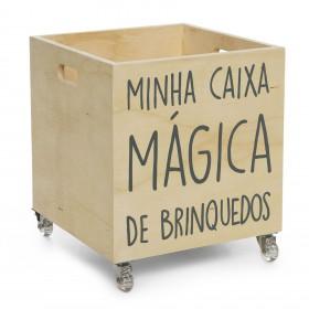 Caixote Para Armazenar Brinquedos - Minha Caixa Mágica de Brinquedos