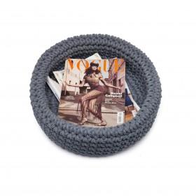 Cesta Baixa Crochet Cinza String