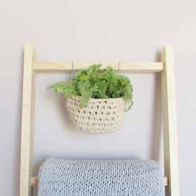 Cesto de Crochet em Fio de Malha com Gancho Hang - Studio Lage