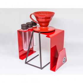 Coador Hario V60 com Estacão de Suporte para Café Coado Modelo Ytu