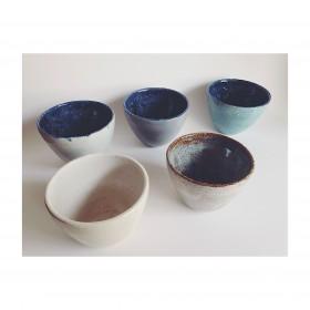 Copos de chá variados