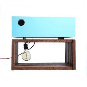 Mesa de Cabeceira com Luminária Embutida Ripa
