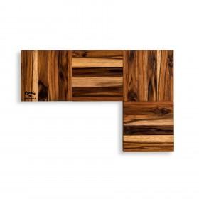 Descanso de Mesa em Madeira Teca Modular Tetris