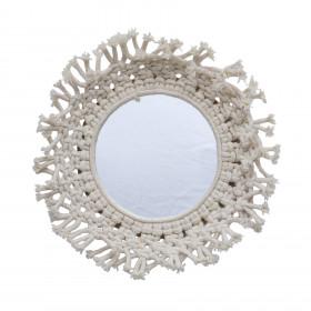 Espelho Redondo em Macramê Gerbera