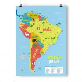 Mapa Infantil da América do Sul