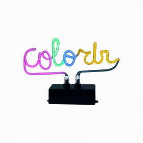 Luminária em Vidro Torcido Neon Colo_Rir