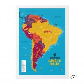 Meu Mapa de Viagem América do Sul com alfinetes