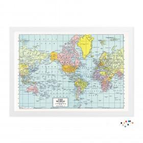 Meu Mapa de Viagem Retrô com alfinetes