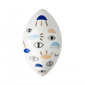 Oval Grande Olhos - azul claro - escuro - bege