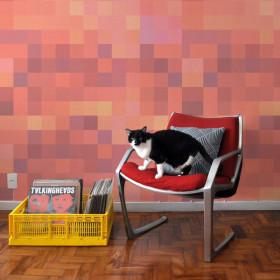 Painel Papel de Parede Adesivo Pixel Céu