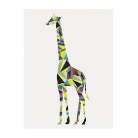 Poster Girafa Geométrica A3