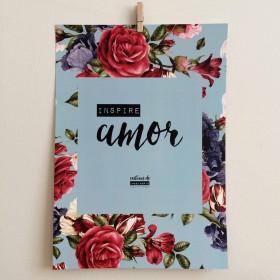 Poster Inspire Amor Rosas