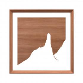 Quadro em Madeira Jequitibá Dedo de Deus - Coleção Rio