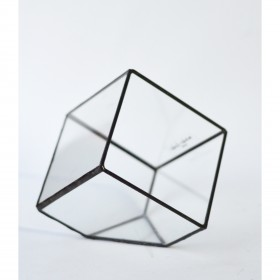 Terrário de Vidro Mini-Cubo