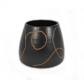 Vaso de Cerâmica Cone Pequeno - ENTREGA IMEDIATA