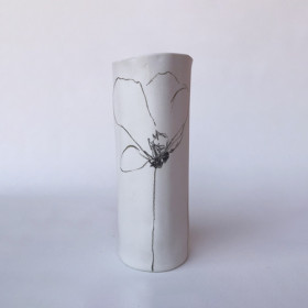 Vaso em Porcelana - Série Papoulas