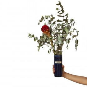 Vaso em Cerâmica Porta Vida Azul M - Amor