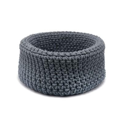 Cesta Alta Crochet Cinza String