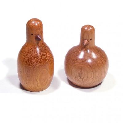 Conjunto Decorativo em Madeira Maciça Avis Aima + Baigo