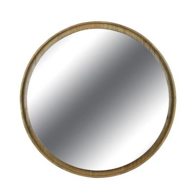 Espelho com Moldura de Madeira Laminada Macaúba