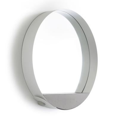 Espelho em Aço e Concreto Loop