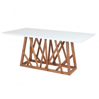 Mesa de Jantar com tampo de vidro Sara