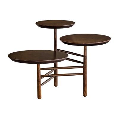 Mesa em Madeira com Três Alturas Trio