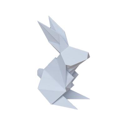 Objeto Decorativo em ABS Coelho Origami