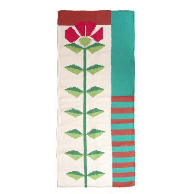 Tapete Passadeira em Tear Manual Flor do Cerrado